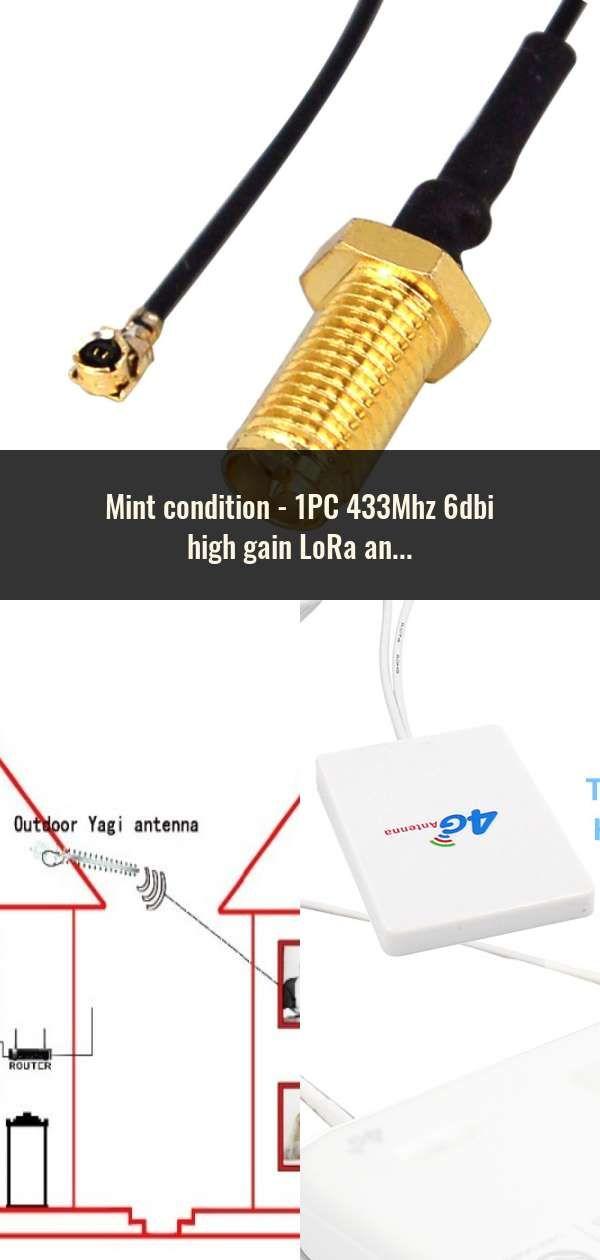 1PC 433Mhz 6dbi high gain LoRa antenna internal aerial piamater FPC