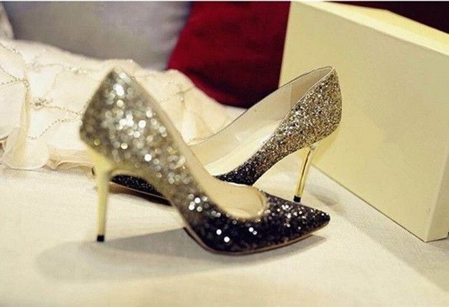 New 2016 Single Sequined Shoes Red Thick With Ultra High With A Word Buckle Silver Gold Bridesmaid Bridal Wedding Shoes For Women'S Sho White Satin Wedding Shoes Wide Fitting Wedding Shoes From Connoryjy10, $39.25| Dhgate.Com
