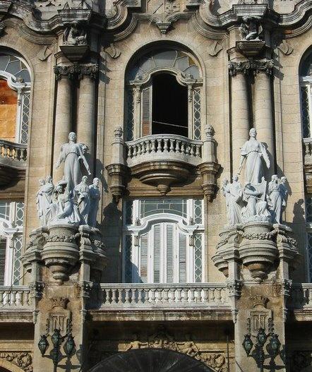 National Theater, classic baroque architecture in Havana, Cuba. - http://Cubatravelnow.net