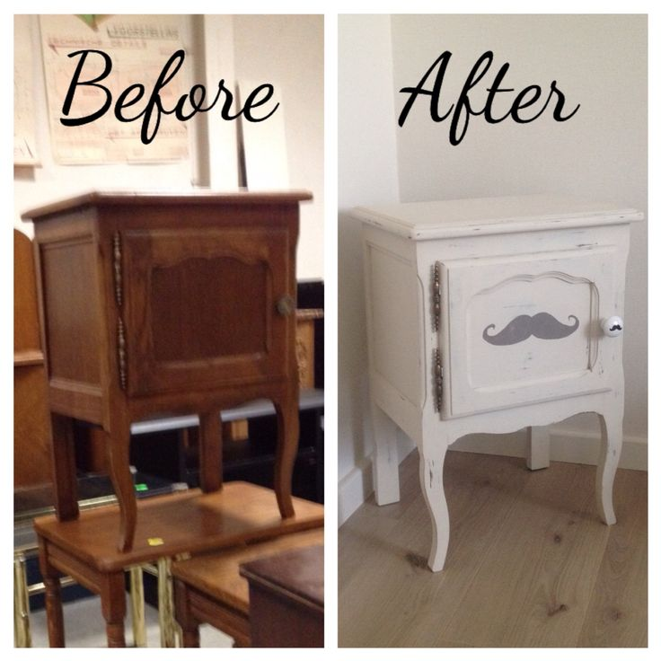 Restyled cabinet, mustache added :-)