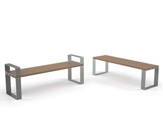Banco en acero y madera sin respaldo EIGHT | Banco sin respaldo