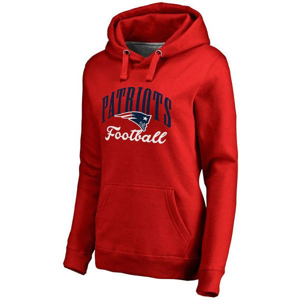 Women's NFL Pro Line by Fanatics Branded Red New England Patriots... ($60) ❤ liked on Polyvore featuring tops, hoodies, red, nfl hooded sweatshirts, nfl hoodies, red hoodies, hoodies pullover and hooded pullover