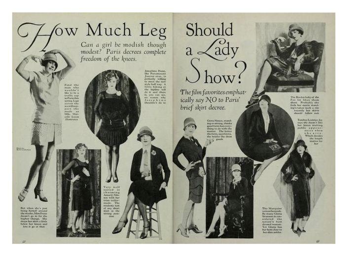 """* Quelle longueur de jambe une dame peut-elle montrer ? Peut-on être """"à la mode"""" et """"pudique"""" ? Paris décrète la """"liberté complète des genoux"""""""