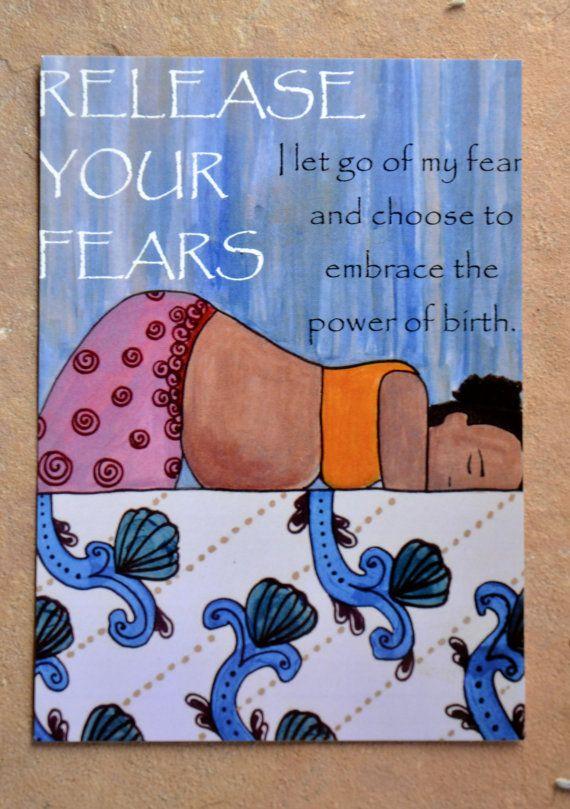 Birth Affirmation Cards/ Birth art/ doula/ by StudioSpiritYSol
