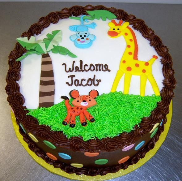 Baby Shower Decorated Cakes: 44 Best Images About BABY SHOWER JUNGLE/SAFARI CAKES