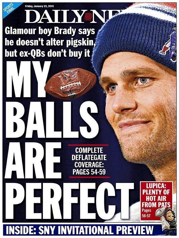 Deflategate Newspaper Headlines Funny headlines, New