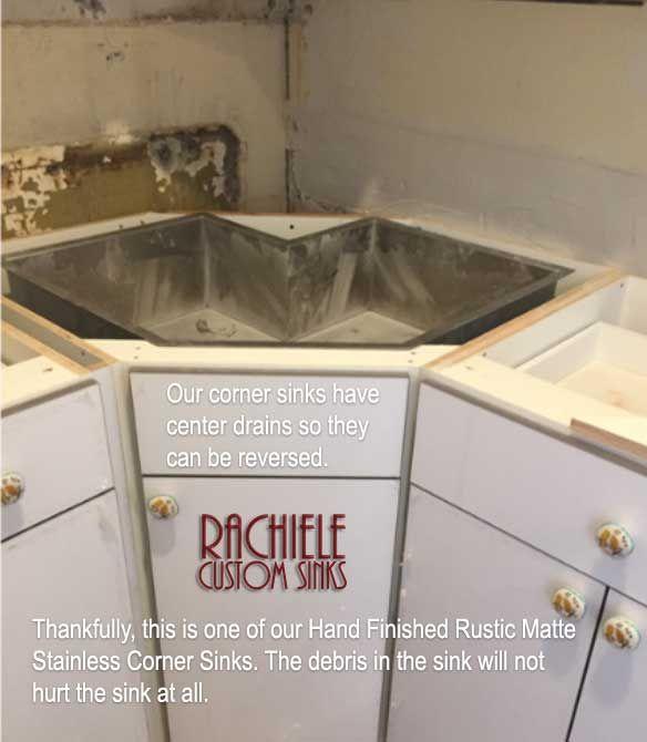 Corner Kitchen Sinks In Copper And Stainless Steel That Make Sense Corner Sink Kitchen Corner Sink Kitchen Sink