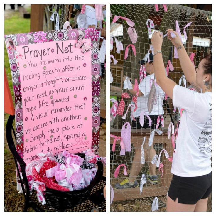 Love this idea! Prayer net... Fill it up year after year until it's a quilt.