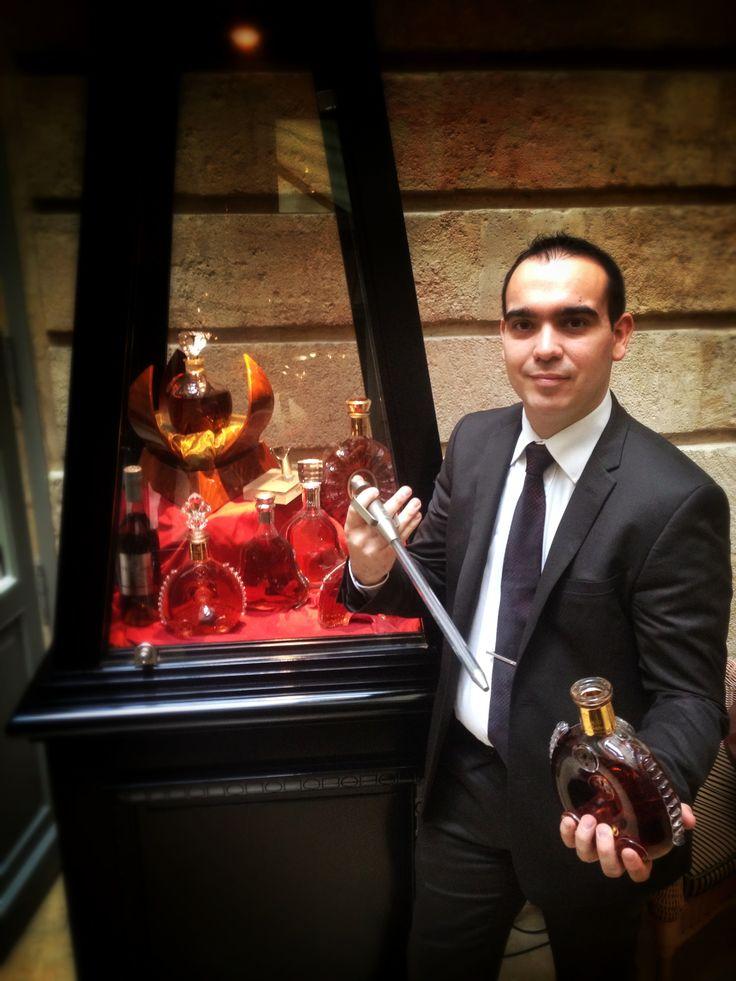 Sébastien, le #chef  #Barman  vous invite à découvrir notre sélection de #Cognac  au #Paradis... Au #Bar du #ghbordeaux  , ce #LouisXIII d'exception vous sera servi de son flacon en #Cristal au fusil... #luxury #spirit #drink   [l'abus d'alcool est dangereux pour la santé]