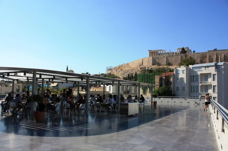 The museum's huge outdoor terrace (Picture by Christos Loufopoulos @ Flickr)