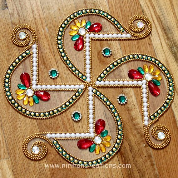 Rangoli Swastik  Traditional for Diwali by Nirman on Etsy, $22.00