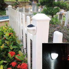 Led Solar Light Outdoor Waterproof Garden Decoration Landscape Lawn Solar Power Panel 6 LED Fence Gutter Wall Solar Power Lamps