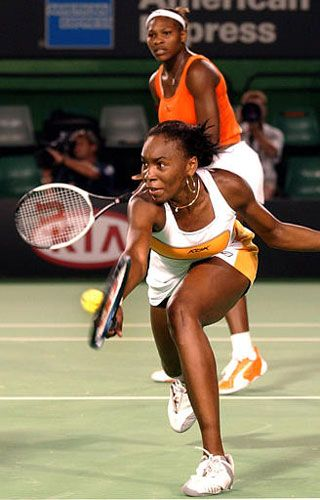 Venus and Serena Williams - probably the  two best women tennis players ever, who have dominated the sport.