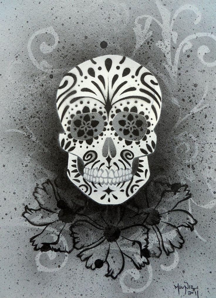 181 best Sugar Skull images on Pinterest   Sugar skull ...