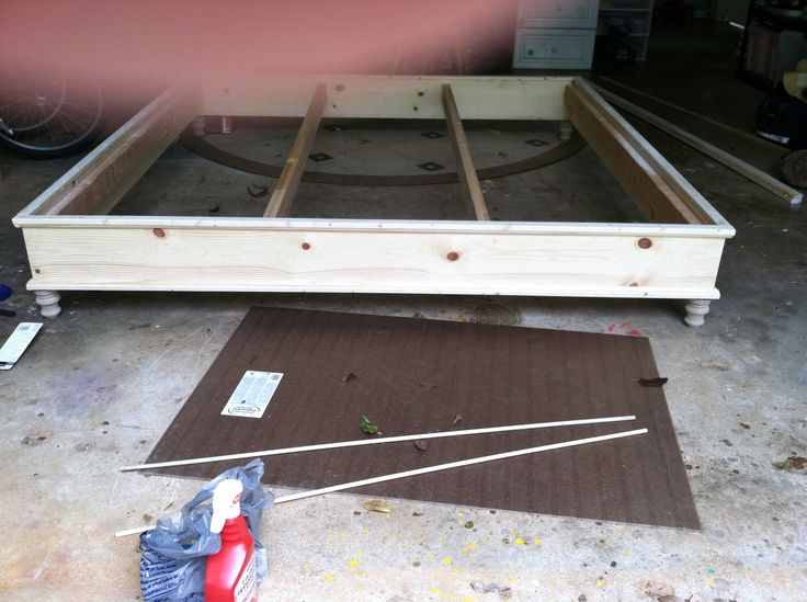 DIY platform bed frame | King Size Platform Bed | Do It Yourself Home Projects from Ana White