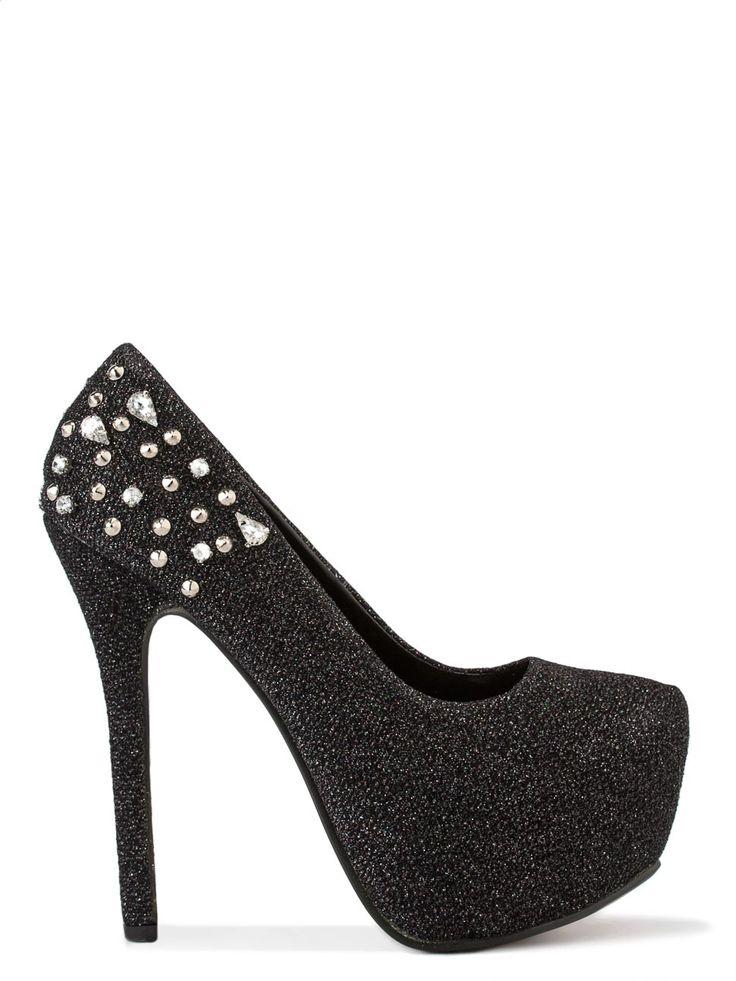 Pantofi cu toc înalt - negru