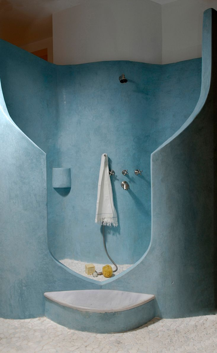 Moroccan bathroom decor - 48 Wonderful Moroccan Bathroom Design Ideas 48 Wonderful Moroccan Bathroom Design With Blue Wall And Shower Design And Stone Floor