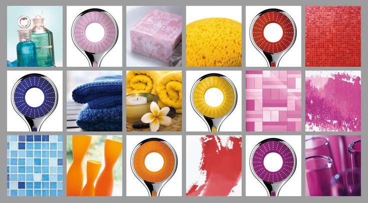 Rainshower Icon Handdouche #color #kleur #handdouche   http://www.sanitairwinkel.nl/douche/douchegarnituren/handdouches/grohe/icon/