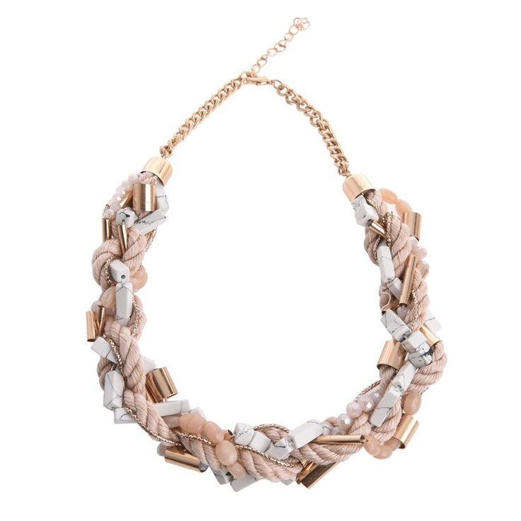 NECKLACE IN PINK-GOLD COLOR - Necklaces - Jewellery - Accessories