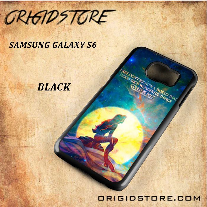 The Little Mermaid Quote Galaxy Nebula Black White Snap On 3D For Samsung Galaxy S6 Case