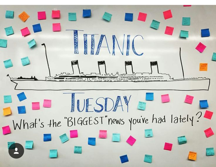 Titanic Tuesday // morning message                                                                                                                                                                                 More
