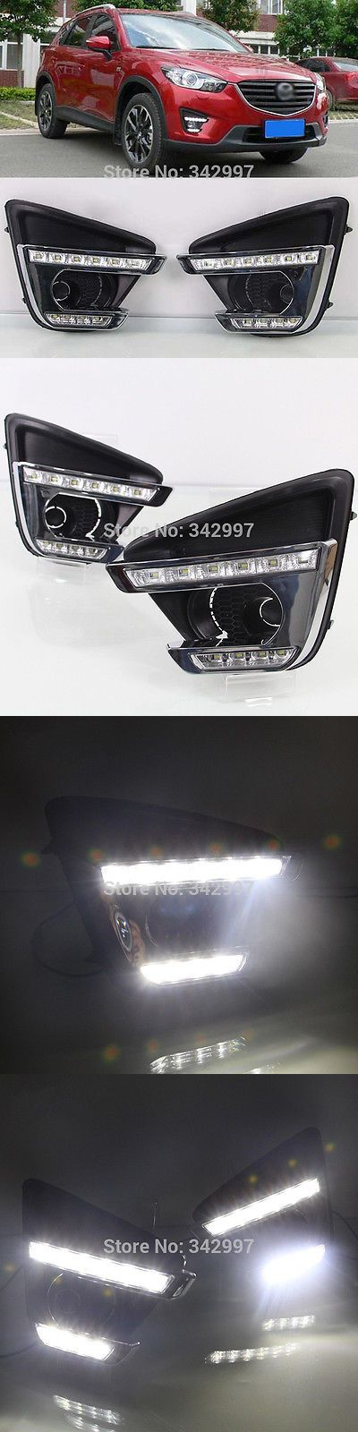 Motors Parts And Accessories: Exact Fit Mazda Cx-5 2015-2017 2X White Led Daytime Day Fog Lights Drl Run Lamp -> BUY IT NOW ONLY: $103.99 on eBay!