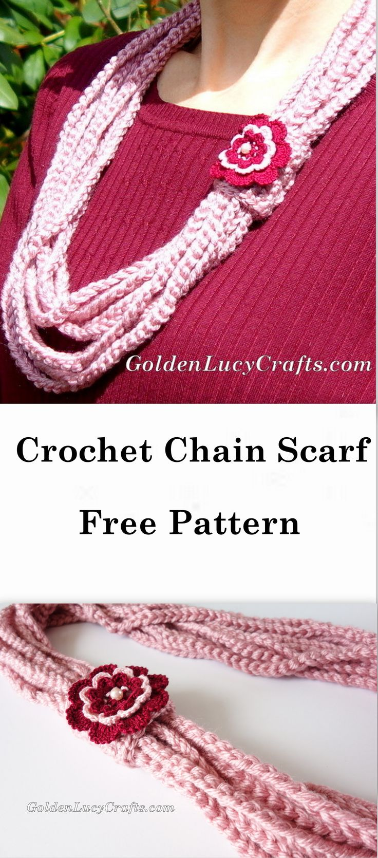 948 best crochet images on pinterest beautiful crafts and this crochet chain scarf or necklace is another road trip project which i made during one of our trips while my husband was driving bankloansurffo Images