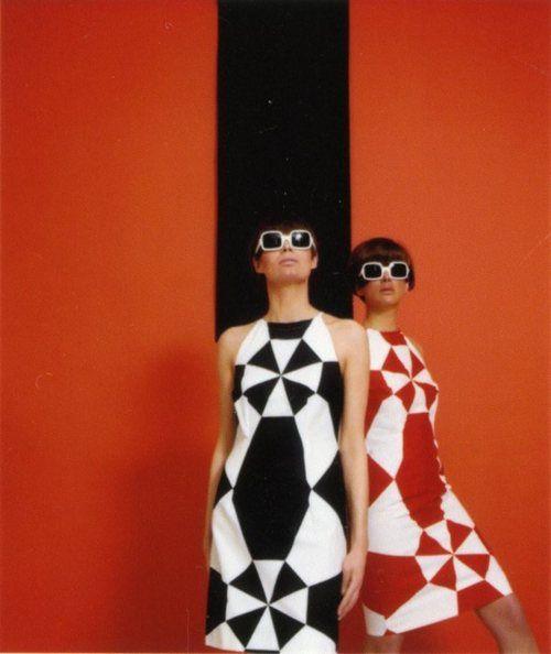 Geometric Mod fashion, 1960's. #modcloth #styleicon