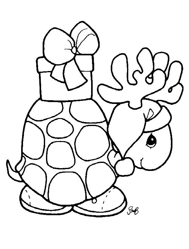 Precious Moments Turtle Holiday Time Christmas Coloring Pages Rhpinterest: Christmas Animals Coloring Pages Printable At Baymontmadison.com