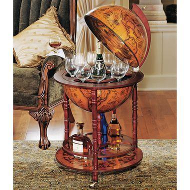 Italian Replica Globe Bar : Home Bars and Bar Carts | Skymall.com
