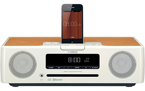 Yamaha TSX-B232 Blanc - Radio-réveil Bluetooth iPod, iPhone et iPad