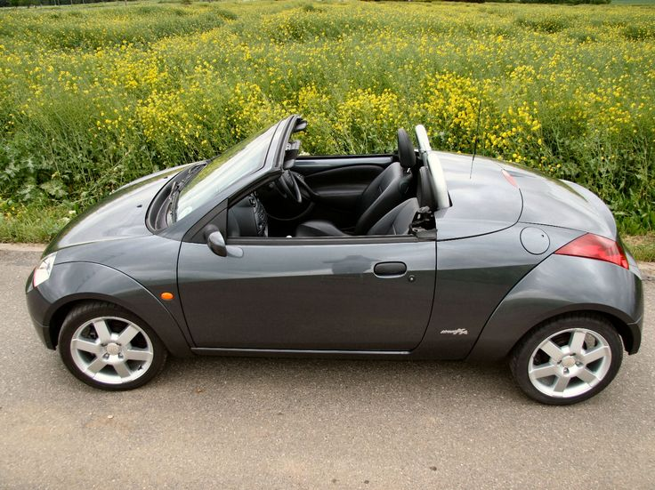 Ford Streetka Grey Soft Top Top Down