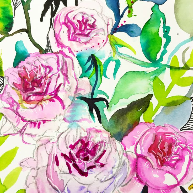 Pink roses by Carol Clough