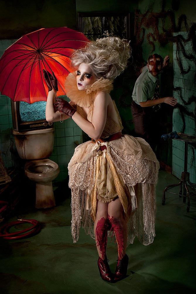 Red umbrella Marie