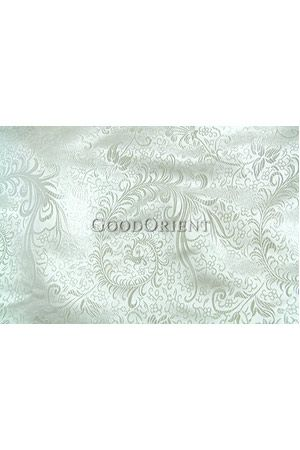 White Chinese Brocade Silk - Feather Fabric