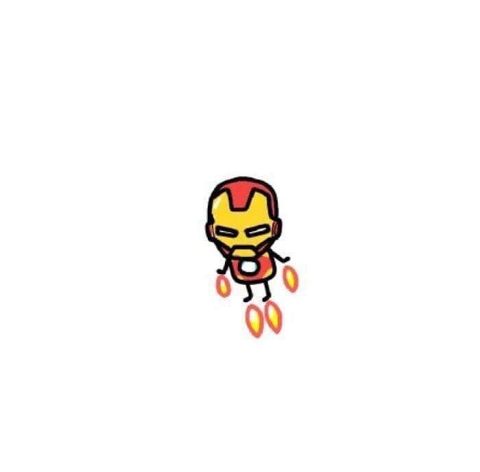 Pin By Thatcha Sarakun On Cute Pics Iron Man Tattoo Iron Man Doodle Cute Drawings Cute iron man animated wallpaper