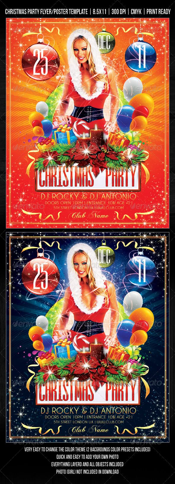Quick poster design - Christmas Party Concert Flyer Poster Design