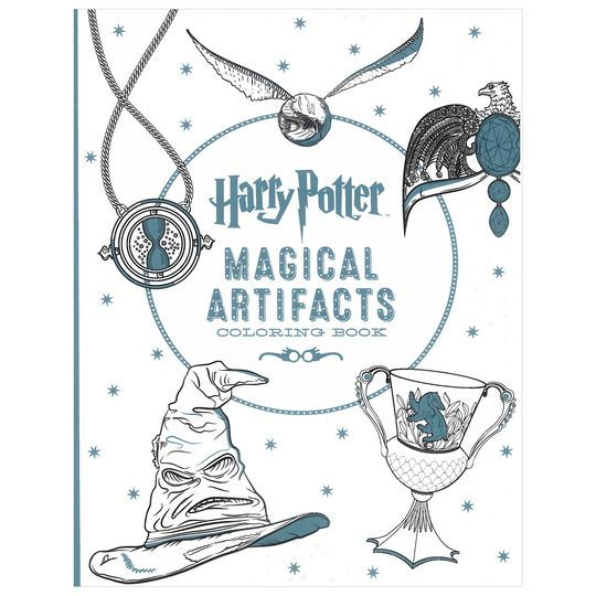 Featuring Intricate Line Drawings Inspired By The Harry Potter Films This Stunning Coloring Book Gives