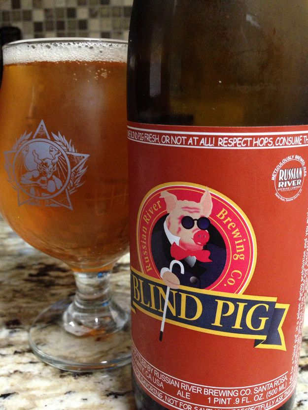 """Blind Pig IPA"" from Russian River Brewing Company 