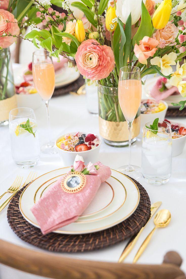 Mother S Day Brunch Tablescape Brunch Tablescape Brunch Decor