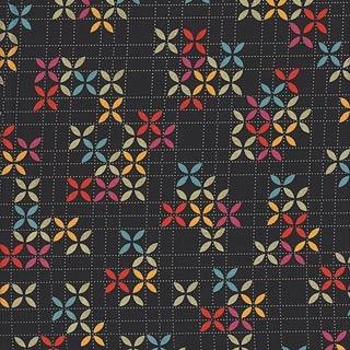 Max And Whiskers Pinwheels Black Fabric Fantastic
