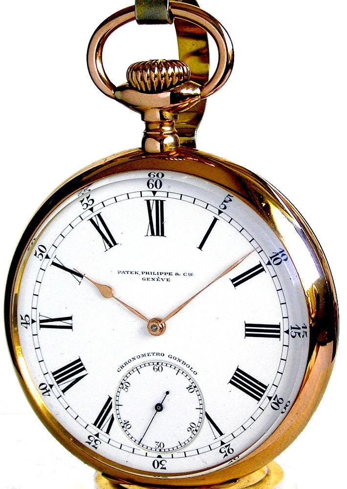 Timeless Design And Meticulous Precision In An Antique 18K Solid Gold Pocket Watch By The Renowned Swiss Manufacturer Patek Philippe The magnificent original beautifully textured back cover and plain