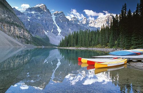 Moraine Lake Canoes by JLMphoto, via Flickr