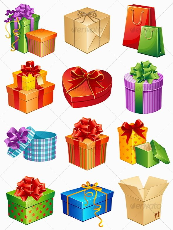 VECTOR DOWNLOAD (.ai, .psd) :: https://realistic.photos/article-itmid-1000078485i.html ... gift box icons ...  blue, box, gift, green, holiday, isolated, purple, red, yellow  ... Vectors Graphics Design Illustration Isolated Vector Templates Textures Stoc