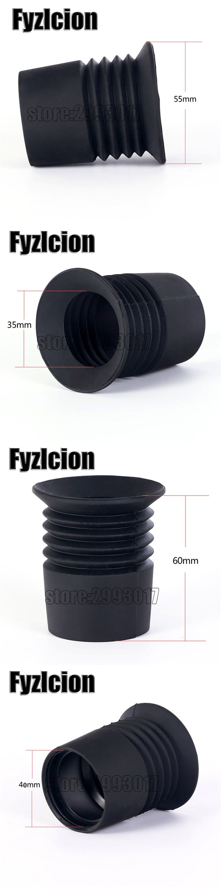 Fyzlcion Rubber Scalability Sight 40mm Diameter Rifle Scope Recoil Eye Protector Eyeshade Hunting Scope Accessories