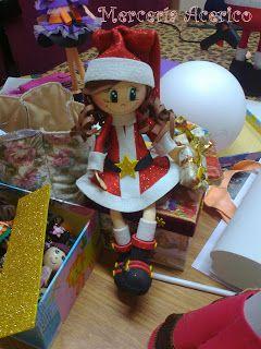 Mercería Acerico : Estamos haciendo los talleres de fofuchas de navidad
