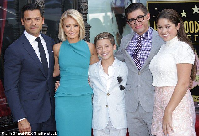 ♥♥♥Kelly Ripa♥♥♥ A family affair: The couple were also joined by their children (L-R) Joaquin, 12, Michael,...