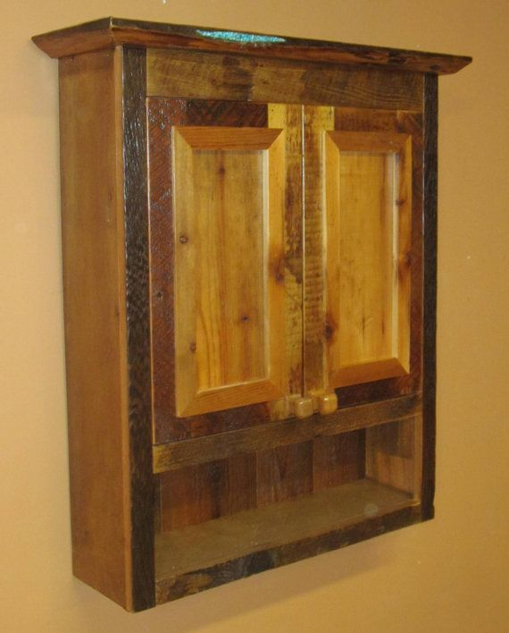Barn Wood Bathroom Toilet Cabinet By Viennawoodworks On