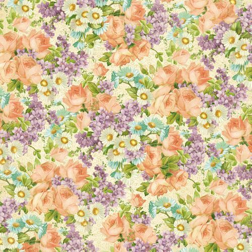 "The front side of ""Perfect Petals"" from our new Spring holiday collection: Sweet Sentiments! #graphic45 #newreleases"