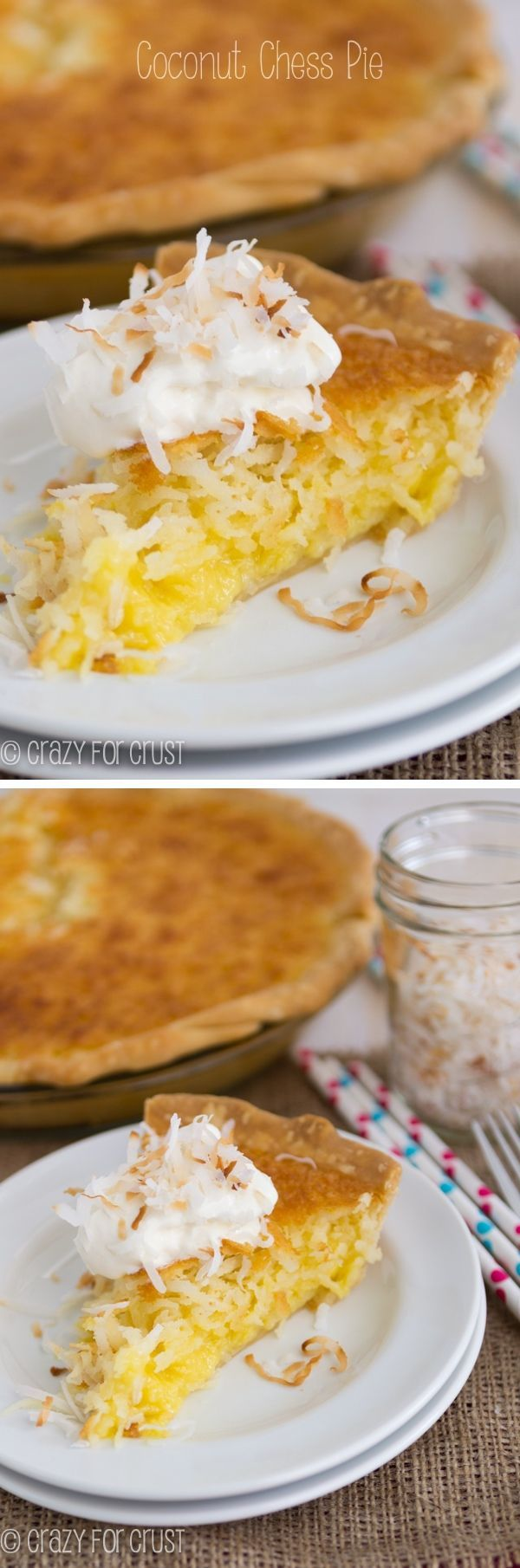 Coconut Chess Pie is easy to make and it's the perfect pie for Thanksgiving!